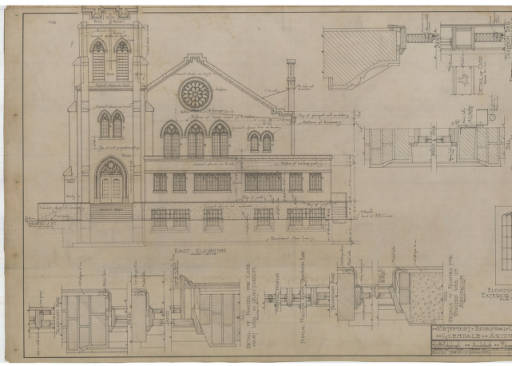 Our history first united methodist church original blueprints malvernweather Image collections